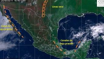 Vaguada provocará lluvias en Yucatán Campeche y Q Roo