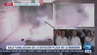 Máquina tuneladora concluye trabajos en Guadalajara