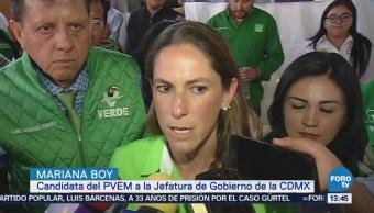 Mariana Boy afirma que no declinará por otro candidato