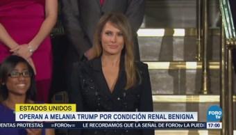 Melania Trump Somete Éxito Cirugía Riñón