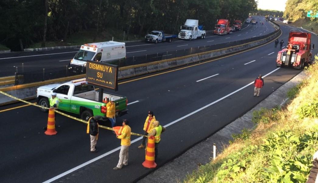 Accidente en la México-Cuernavaca provoca más de 15 horas de caos