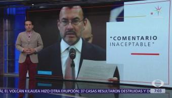 México entrega nota diplomática por comparación que hizo