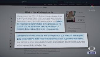 México fija su postura sobre las elecciones