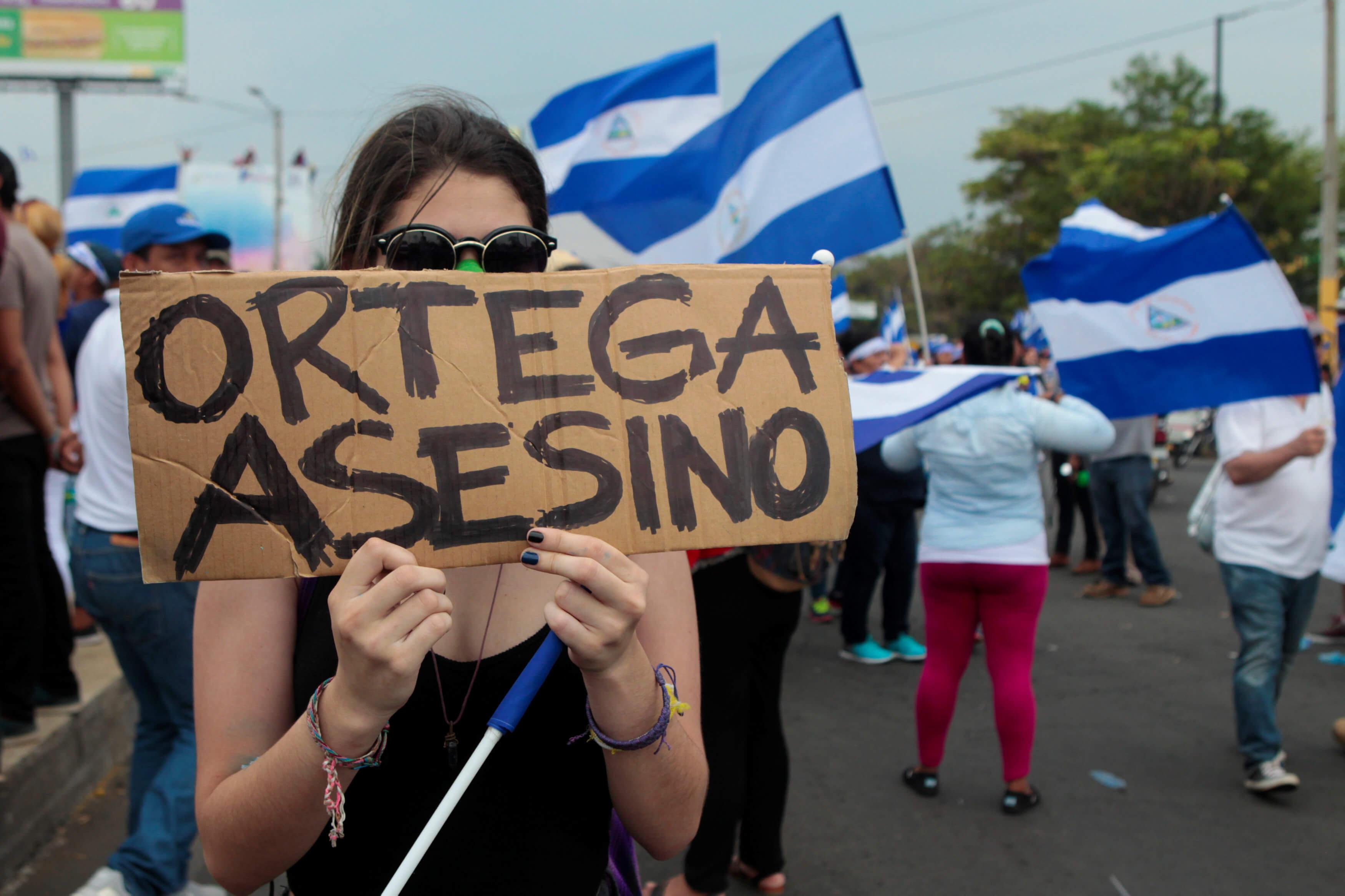 Miles claman justicia y piden democracia Nicaragua