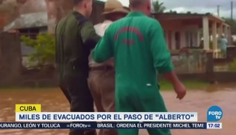 Miles Evacuados Paso Tormenta Alberto Cuba
