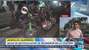 Miles de motociclistas se reúnen en la costera de Acapulco