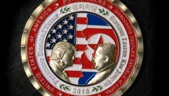 monedas encuentro Trump Kim causan coleccionistas