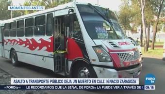 Muere joven durante asalto a transporte público en CDMX