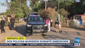 Mueren Dos Policías Municipales Emboscados Guanajuato