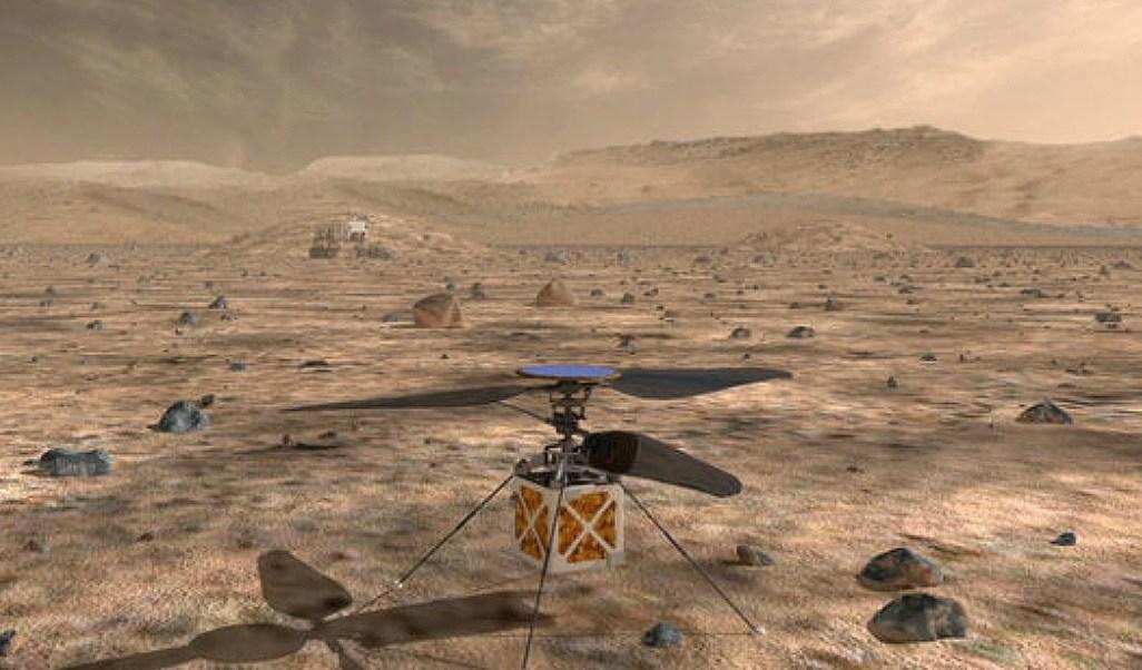 NASA enviará mini helicóptero Marte 2020