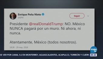 México nunca pagará por el muro