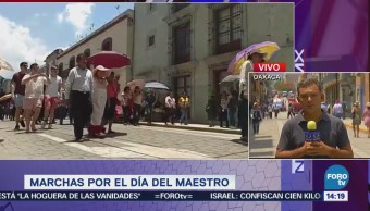 Siete Mil Miembros CNTE Marchan Oaxaca