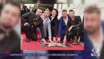 NSYNC recibe estrella en Paseo de la Fama de Hollywood