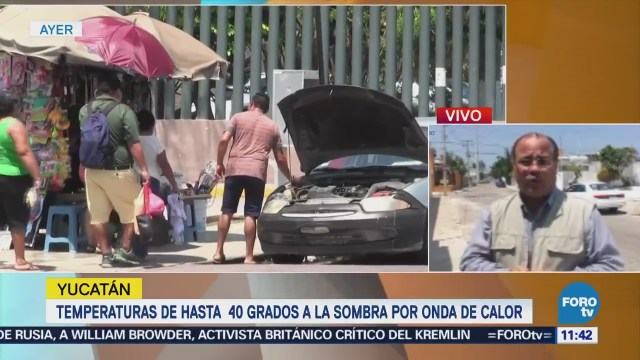 Onda de calor provoca altas temperaturas en Yucatán
