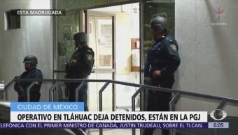 Operativo en Tláhuac deja detenidos los resguardan