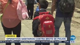 Operativos Sanitarios Contra Brote Piojos Oaxaca