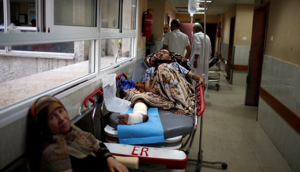 Palestinos heridos tropas israelies rebasan capacidad hospitales Gaza