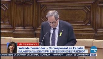 Parlamento Catalán Debate Elegir Sucesor Carles Puigdemont
