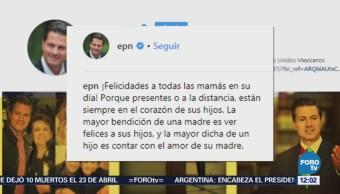 Peña Nieto felicita a las madres mexicanas