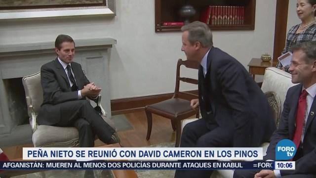 Peña Nieto se reúne con David Cameron, exprimer ministro de Reino Unido