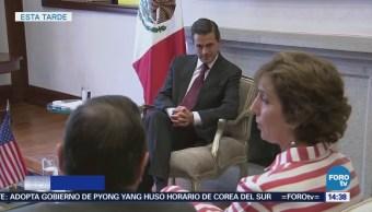 Peña Nieto Reúne Embajadora Roberta Jacobson