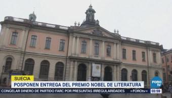 Posponen entrega del Premio Nobel de Literatura