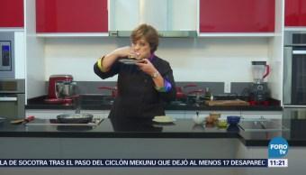 Prepare rellenos de quesadillas con tallos de champiñones