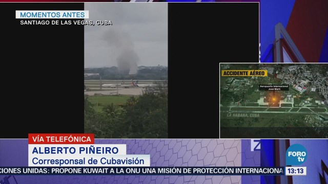 Presidente de Cuba acude a sitio donde cayó