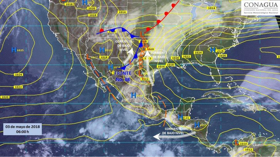 Prevén vientos fuertes, tormentas y tornados en norte