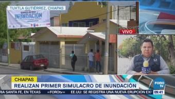 Primer simulacro de Inundación y desbordamiento de ríos en Chiapas