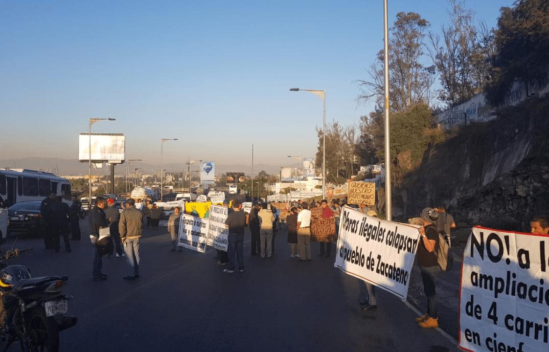 Vecinos de Zacatenco protestan por proyectos inmobiliarios