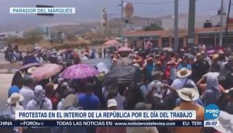Protestas en México por el Día del Trabajo