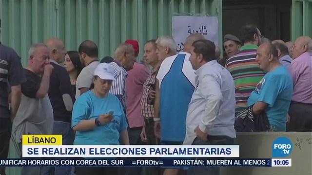 Realizan elecciones parlamentarias en Líbano