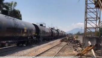 reanudan transito trenes via afectada descarrilamiento orizaba veracruz