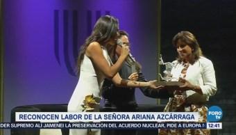 Reconocen creatividad de la señora Ariana Azcárraga