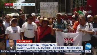 Reforma e Insurgentes, cerrados por manifestantes