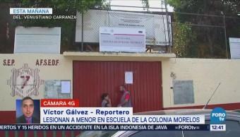 Reportan adolescente lesionado por navaja en secundaria de la delegación Venustiano Carranza