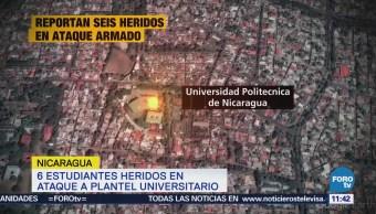 Reportan ataque armado en universidad de Nicaragua