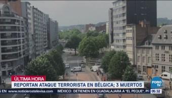 Reportan ataque terrorista en Bélgica