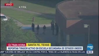 Reportan tirador activo en escuela secundaria