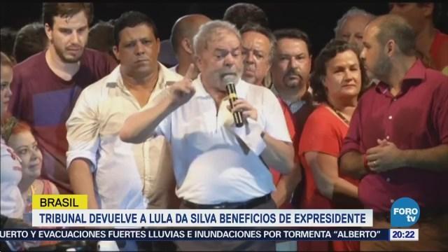 Restituyen beneficios presidenciales a Lula da