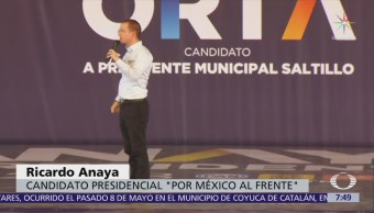 Ricardo Anaya reitera que su prioridad será combatir la corrupción e impunidad