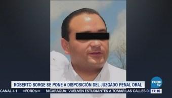 Roberto Borge so pone a disposición de juzgado penal oral