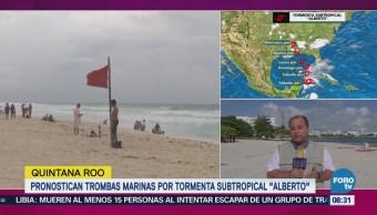 Pronostican Trombas Marinas Tormenta Subtropical Alberto