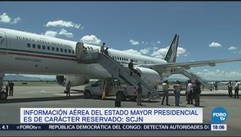 SCJN Confirma Información Aérea EMP Reservada