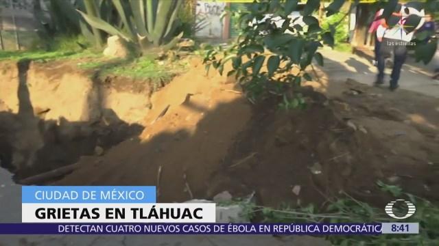Se Abre Grieta Tláhuac Vecinos Exigen Presencia Geólogos