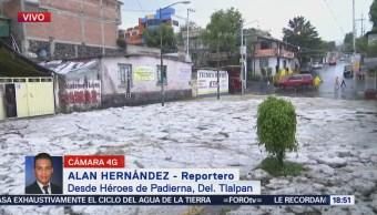 Registra Caída Granizo Tlalpan