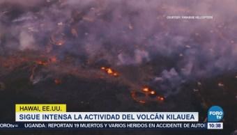 Sigue Intensa Actividad Volcán Kilauea