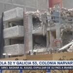 Sigue la demolición de edificios afectados