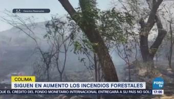 Siguen Aumento Incendios Forestales Colima Conafor